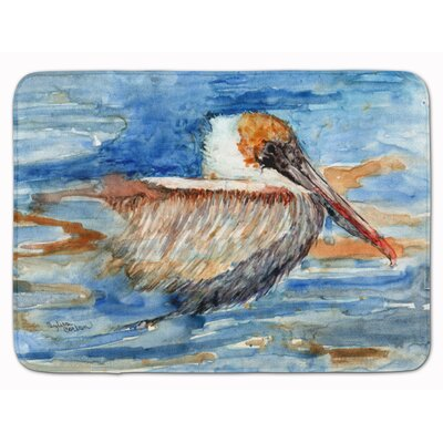 Pelican in the water Memory Foam Bath Rug