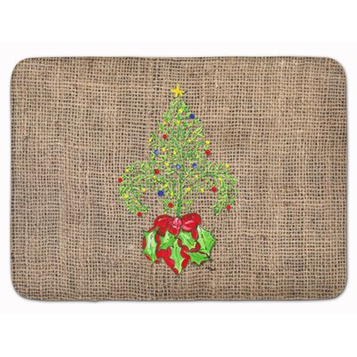Christmas Tree Fleur de lis Memory Foam Bath Rug