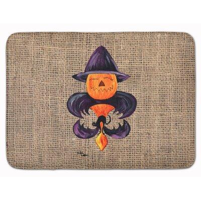 Testa Pumpkin Bat Fleur de lis Memory Foam Bath Rug