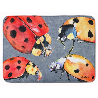 Mallory Lady Bug Multiple Memory Foam Bath Rug