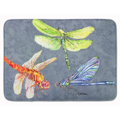 Dragonfly Times Three Memory Foam Bath Rug