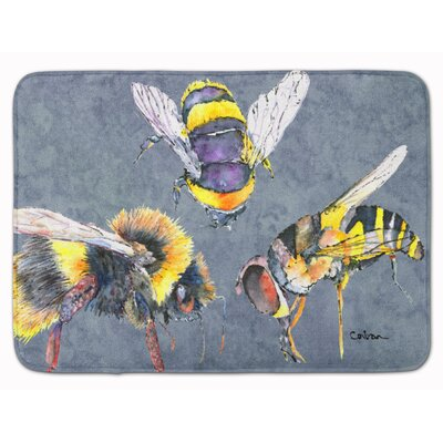 Bees Times Three Memory Foam Bath Rug