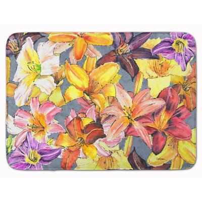 Day Lillies Memory Foam Bath Rug