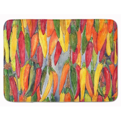 Hot Peppers Memory Foam Bath Rug