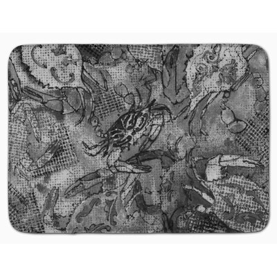 Crab Canvas Abstract Memory Foam Bath Rug