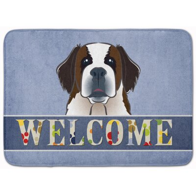 Saint Bernard Welcome Memory Foam Bath Rug