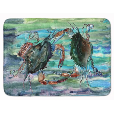 Crab Watery Memory Foam Bath Rug
