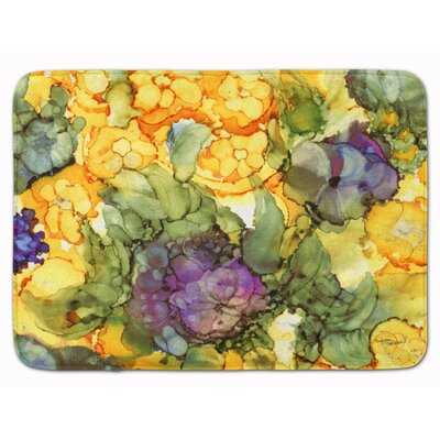 Flower Abstract Memory Foam Bath Rug