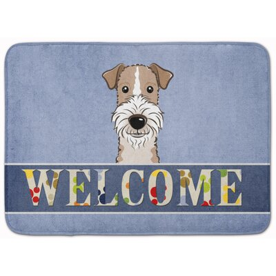 Wire Haired Fox Terrier Welcome Memory Foam Bath Rug