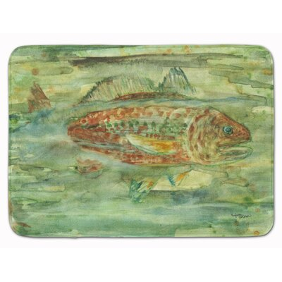 Abstract Fish Memory Foam Bath Rug
