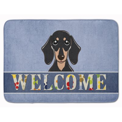 Dachshund Welcome Memory Foam Bath Rug