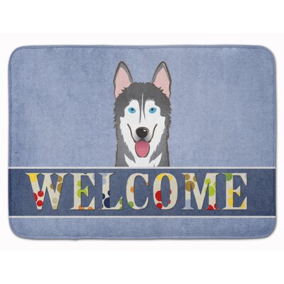 Alaskan Malamute Welcome Memory Foam Bath Rug