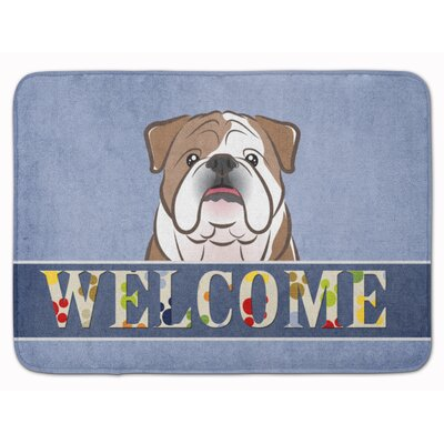 English Bulldog Welcome Memory Foam Bath Rug