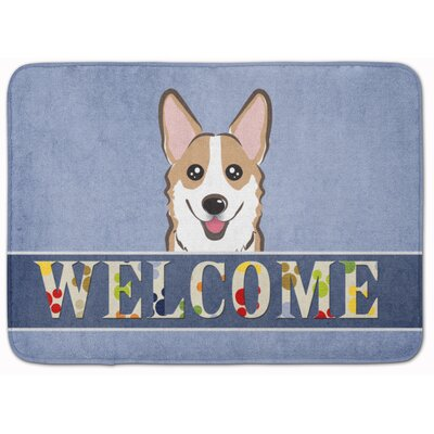 Sable Corgi Welcome Memory Foam Bath Rug Color: Beige