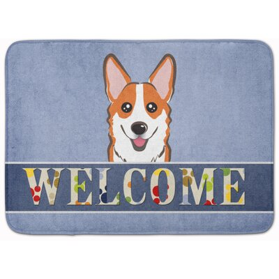 Sable Corgi Welcome Memory Foam Bath Rug Color: Orange