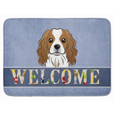 Cavalier Spaniel Welcome Memory Foam Bath Rug