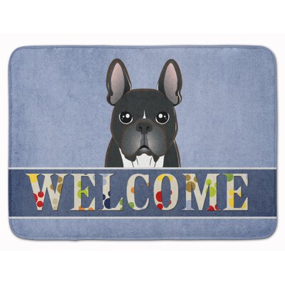 French Bulldog Welcome Memory Foam Bath Rug