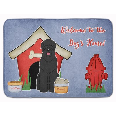 Dog House Russian Terrier Memory Foam Bath Rug