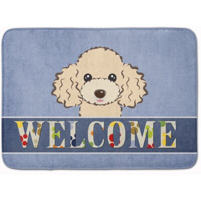 Poodle Welcome Memory Foam Bath Rug Color: Beige