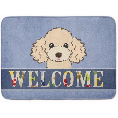Poodle Welcome Memory Foam Bath Rug Color: Beige