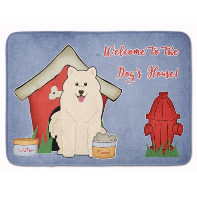 Dog House Samoyed Memory Foam Bath Rug