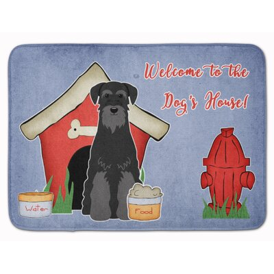 Dog House Standard Schnauzer Memory Foam Bath Rug Color: Black
