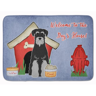 Dog House Standard Schnauzer Memory Foam Bath Rug Color: Black/Gray