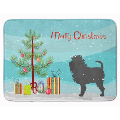 Affenpinscher Merry Christmas Tree Memory Foam Bath Rug