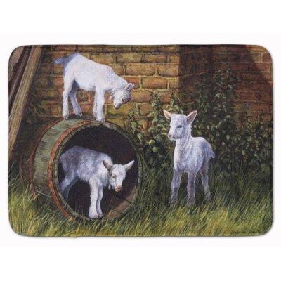 Goats by Daphne Baxter Memory Foam Bath Rug