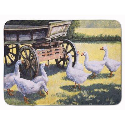 Geese by Daphne Baxter Memory Foam Bath Rug