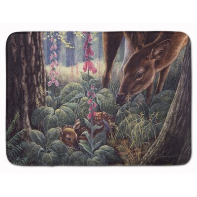 Doe and Fawn Deer Memory Foam Bath Rug