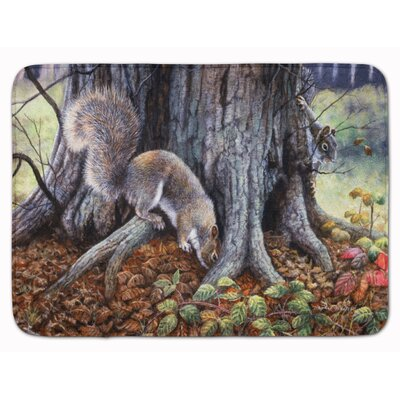 Earle Squirrel Around the Tree Memory Foam Bath Rug
