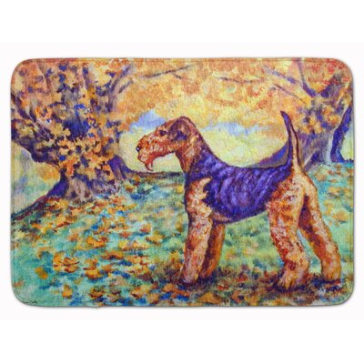 Autumn Airedale Terrier Memory Foam Bath Rug