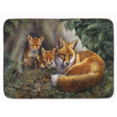 A Family of Foxes at Home Memory Foam Bath Rug