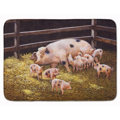 Jonah Pigs Piglets at Dinner Time Memory Foam Bath Rug