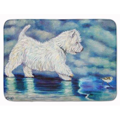 Westie Misty Memory Foam Bath Rug