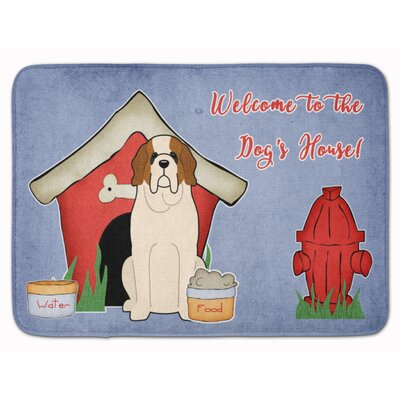 Dog House Saint Bernard Memory Foam Bath Rug
