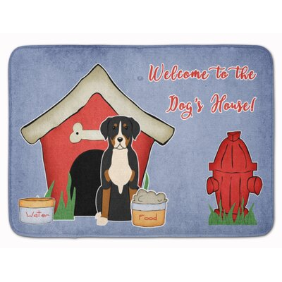 Dog House Greater Swiss Mountain Dog Memory Foam Bath Rug