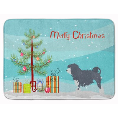 Lowchen Merry Christmas Tree Memory Foam Bath Rug