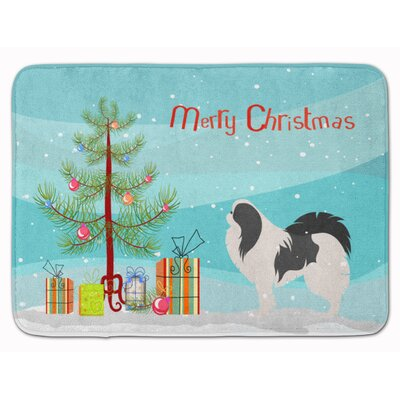 Japanese Chin Merry Christmas Tree Memory Foam Bath Rug
