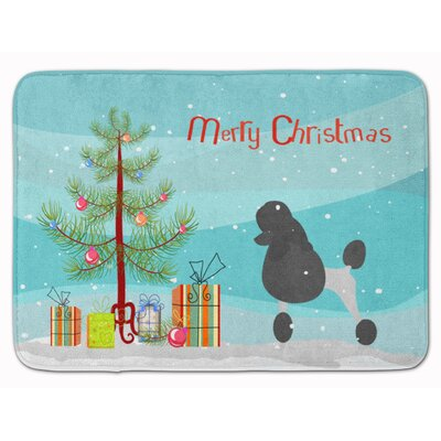 Poodle Merry Christmas Tree Memory Foam Bath Rug