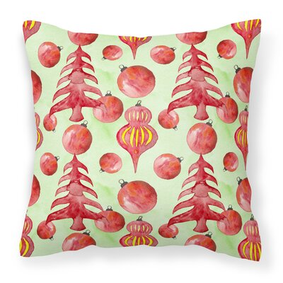Christmas Tree and Ornaments Outdoor Throw Pillow