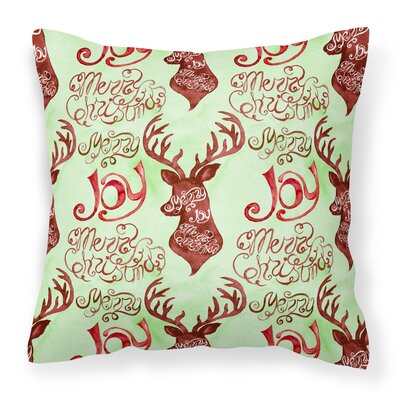 Merry Christmas Joy Reindeer Outdoor Throw Pillow