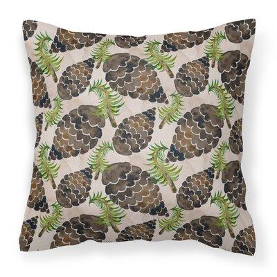 Griselda Pine Cones Outdoor Throw Pillow