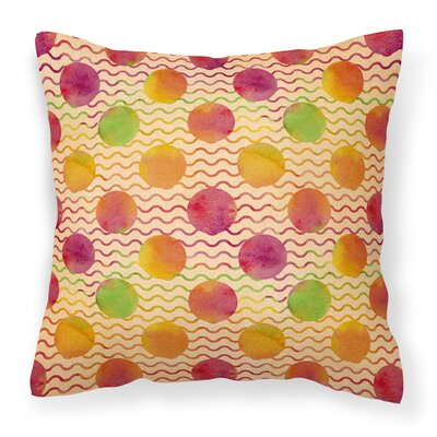 Hults Rainbow Dots and Sqiggles Outdoor Throw Pillow