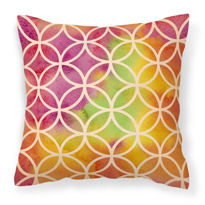Humes Rainbow Geometric Circles Outdoor Throw Pillow