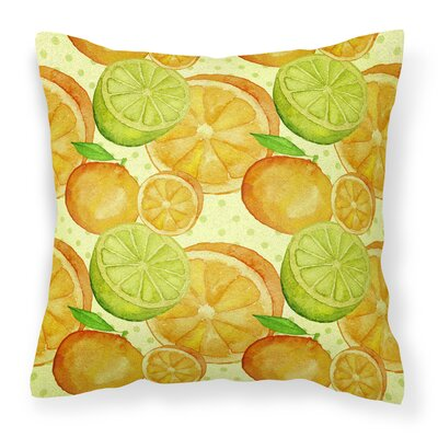 Keshia Limes ands Citrus Outdoor Throw Pillow