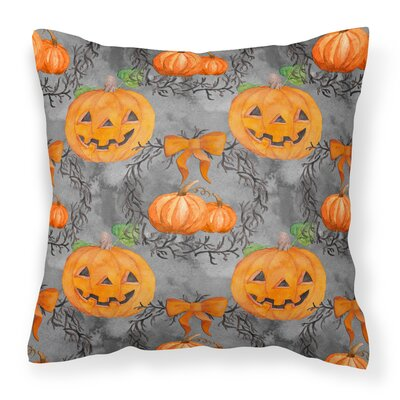 Watecolor Halloween Pumpkins Outdoor Throw Pillow