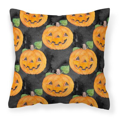 Watecolor Halloween Jack-O-Lantern Outdoor Throw Pillow