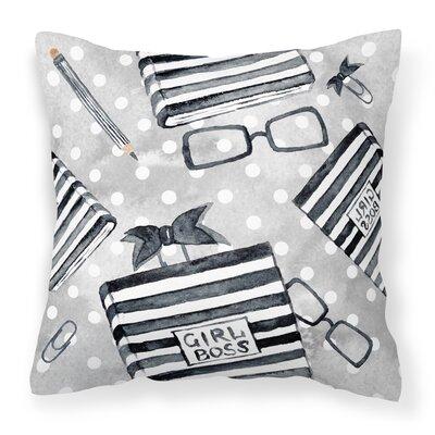 Mackenzie Girl Boss Journal Outdoor Throw Pillow
